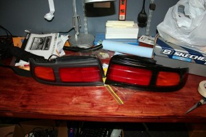 S14 Faded Kouki Taillight Restore to Black Before and After Comparison